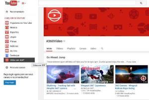 Vídeos em 360º no Youtube
