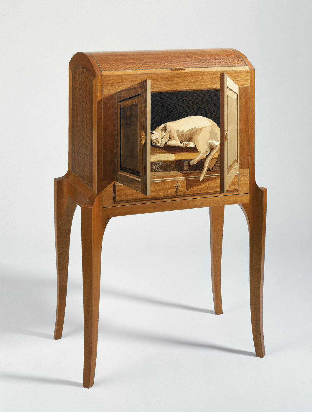 school desk chairs office chair arms or no animal – silas kopf woodworking inlaid wood marquetry studio furniture