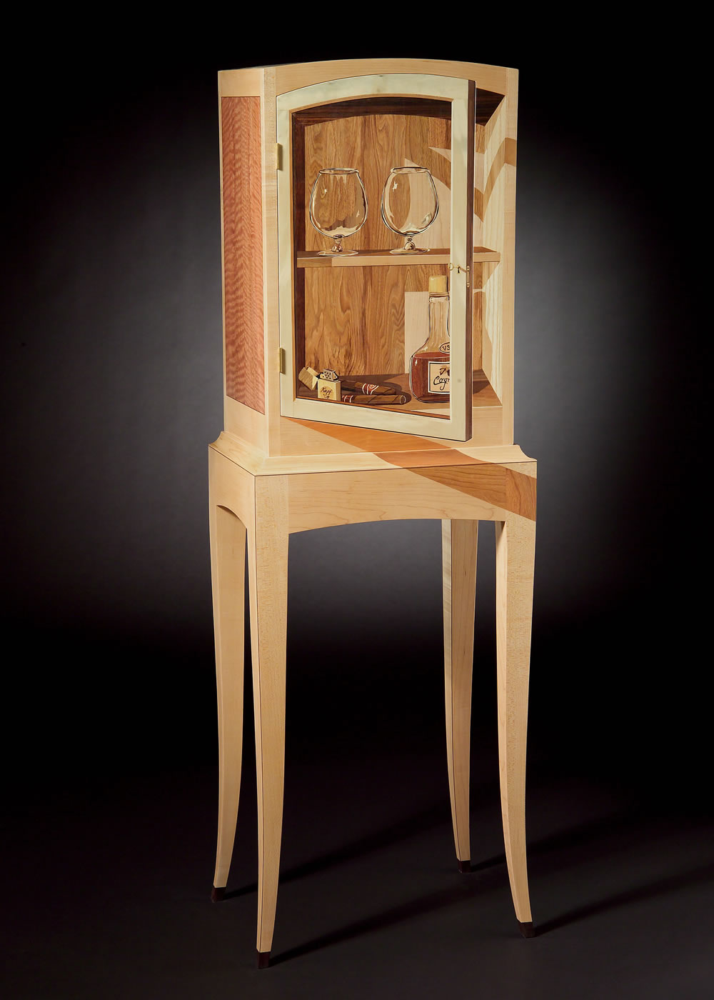 desk chairs aqua dining room chair covers trompe l'oeil – silas kopf woodworking inlaid wood marquetry studio furniture