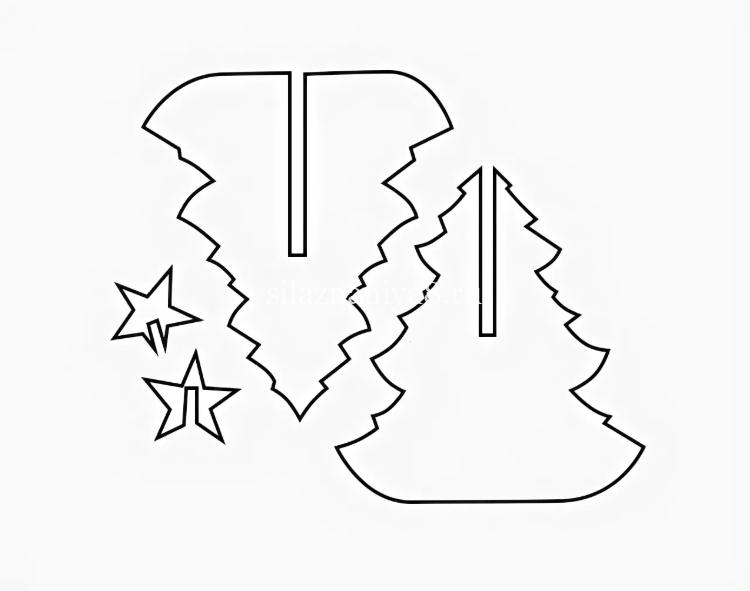 Қағаздан жасалған шырша