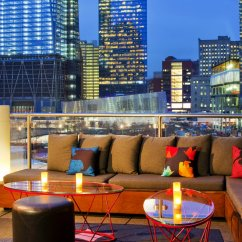 The Living Room With Sky Bar Types Of Wall Tiles For 11 Hotels Rooftop Bars In New York You Should Not Miss Silencio Newyork
