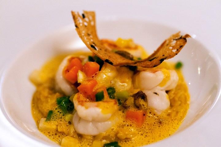 Restaurant-W-Warwick-Paris-Silencio-gambas risotto