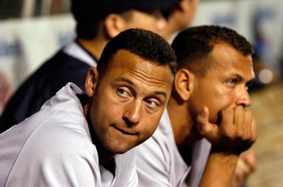 Derek Jeter (left) and Alex Rodriguez (Courtesy of NY Times and Getty)