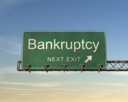 Corporate bankruptcies on the rise in 2008.