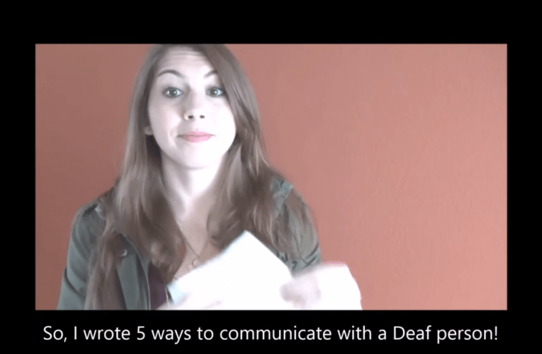 Five Ways to Communicate with a Deaf Person by Deaf Actress Amanda McDonough