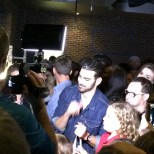 Nyle DiMarco chatting with young fans.