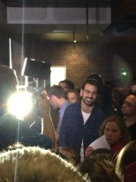 Nyle DiMarco waits for his time to speak in front of his fans.