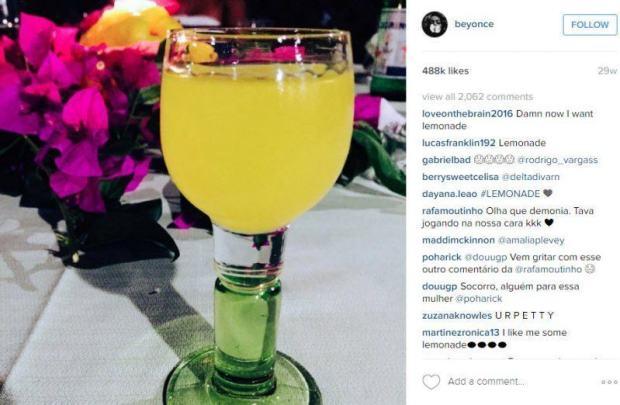 beyonce serving up lemonade