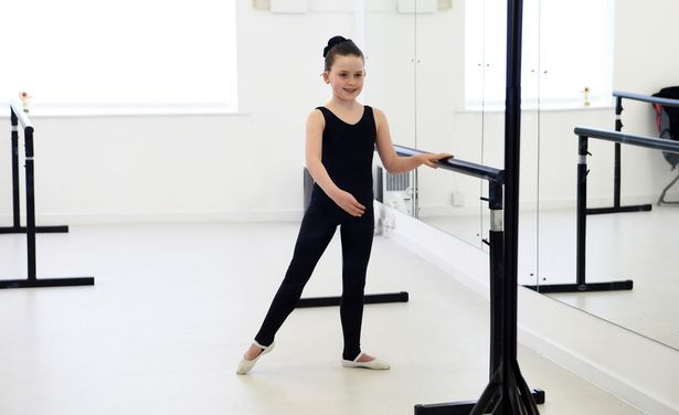 Alexandria Murray, 8, who has been selected to attend a mentoring weekend where she will work towards taking part in a live showcase Her dance tutor is Caroline Grace, 36