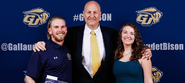 Al Nevel Award: Chase Magsig, Athletic Director Michael Weinstock, TraciAnn Hoglind