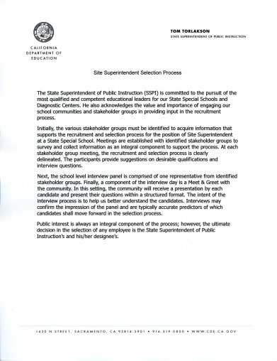 Pictures of Superintendent of Public Instruction Tom Torlakson released two letters announcing not only that Dr. Virnig had been reassigned, but also that a search committee for a new site superintendent is now underway which meets the third demand.