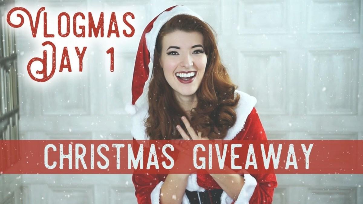 Vlogmas Day1: Christmas Giveaway!