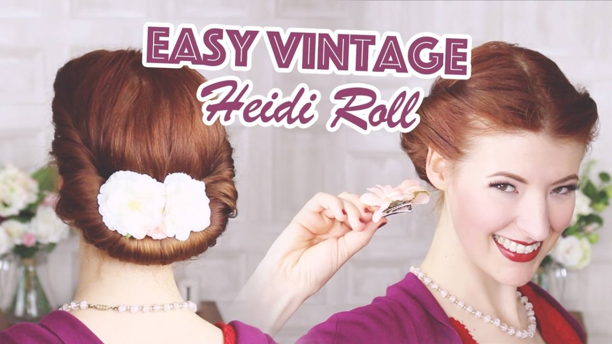 Heidi Roll How To // Easy Vintage Hair