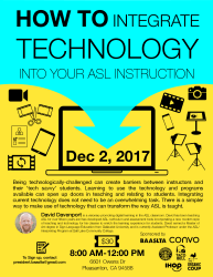 How to Integrate Technology into your ASL Instruction