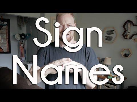 Sign Names | ASL Ponderings + Deaf Awareness Month