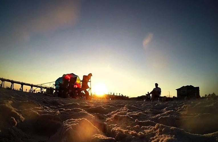 Casino Beach on Pensacola Beach, Florida – Sunset with GoPro Hero3+ Camera (Time Lapse)