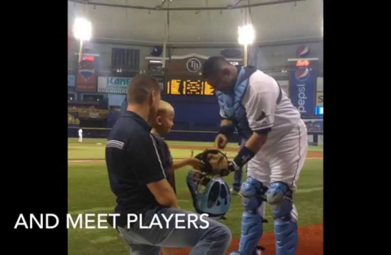 The Wann Family Play Ball with the Tampa Bay Rays!