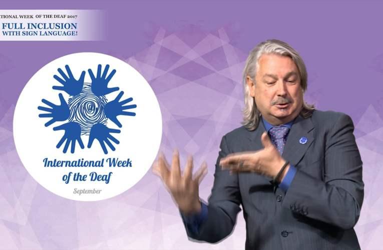 What is International Week of the Deaf?