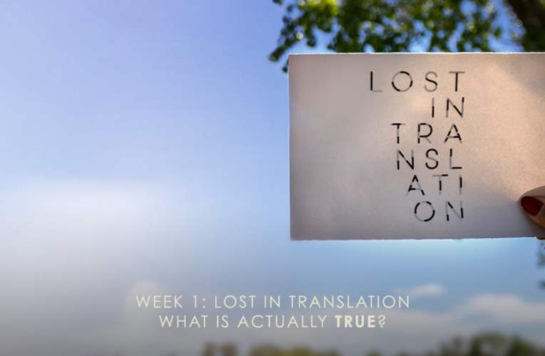 05/26/19  What Is Actually True?