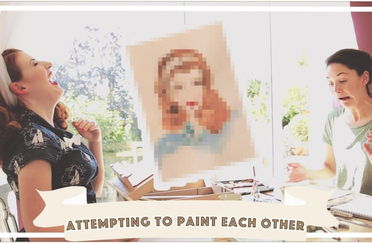 Attempting to paint each other // Jessie and Claud // AD [CC]
