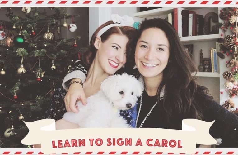 Learn Christmas Carols in Sign Language! // Vlogmas Day 16