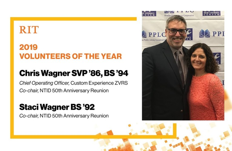 RIT 2019 Volunteers of the Year: Chris Wagner SVP '86, BS '94 & Staci Wagner BS '92