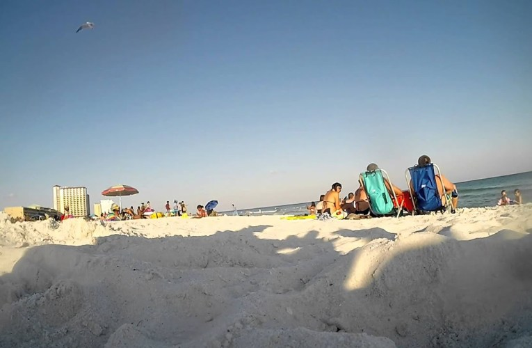 Casino Beach on Pensacola Beach, Florida with GoPro Hero3+ Camera (Time Lapse)