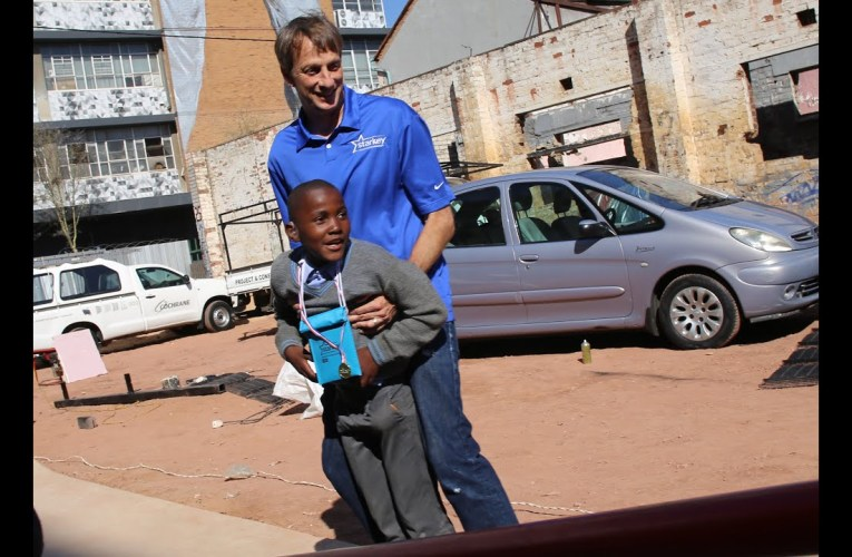 Tony Hawk teams with the Foundation in South Africa