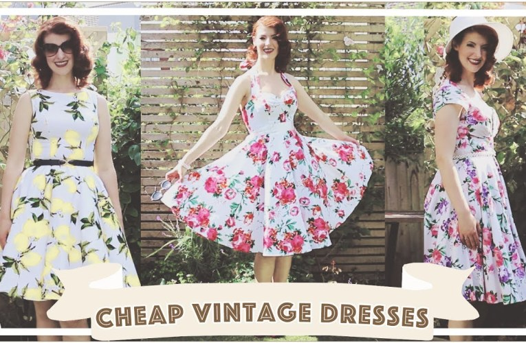Cheap Vintage Dresses and Petticoats Review! // Grace Karin