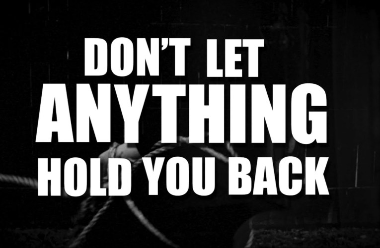 """Sean Forbes – """"Don't Let Anything Hold You Back"""""""