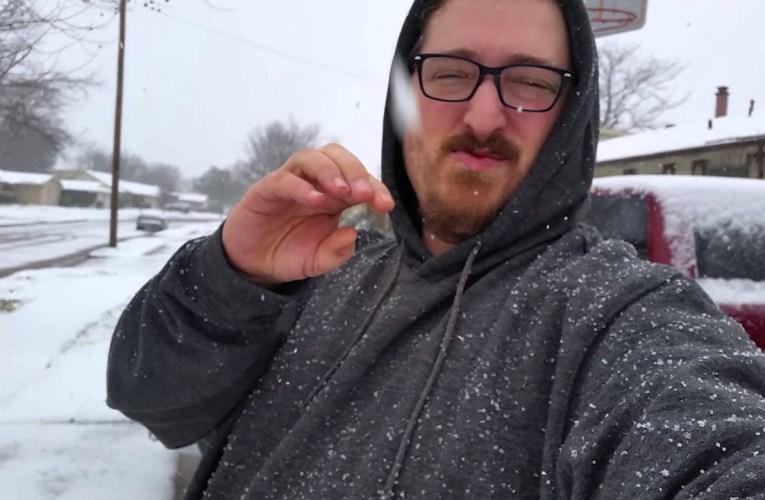 Snow in Dallas 2/27/15