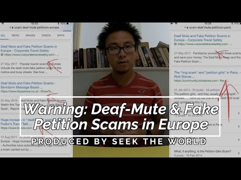 """Warning: """"Deaf-Mute"""" & Fake Petition Scams in Europe (Captioned)"""