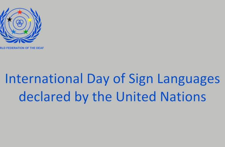 WFD Press Release on the International Day of Sign Languages