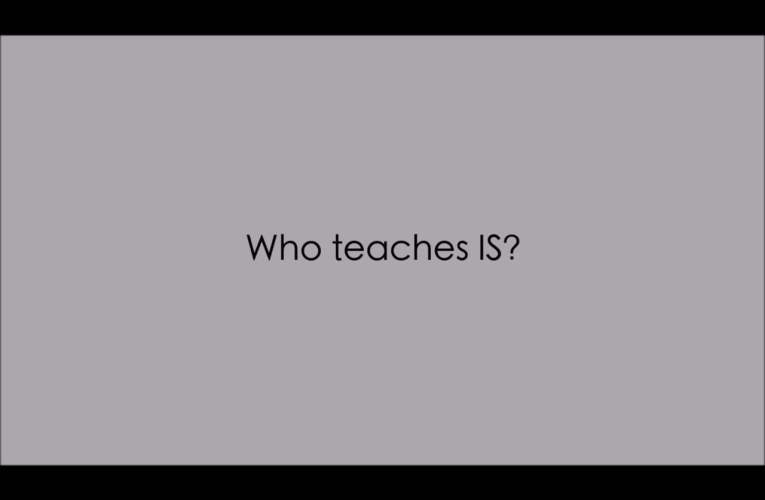 8. Who teaches IS? (WASLI/WFD FAQ on IS)