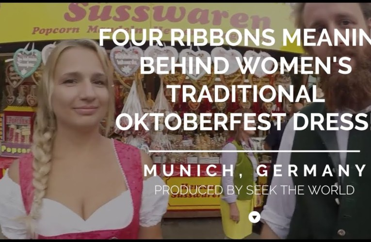 THERE ARE FOUR RIBBONS MEANING BEHIND WOMEN'S TRADITIONAL OKTOBERFEST DRESS!