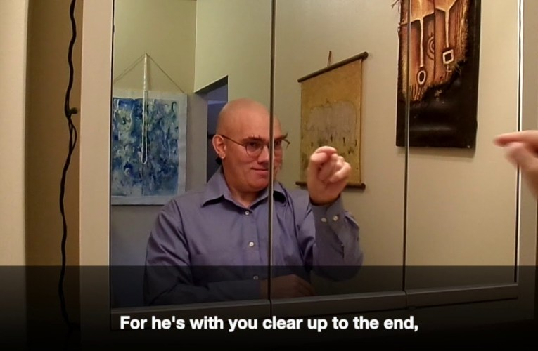 """Dale Wimbrow's """"The Guy in the Glass"""" translated into American Sign Language"""