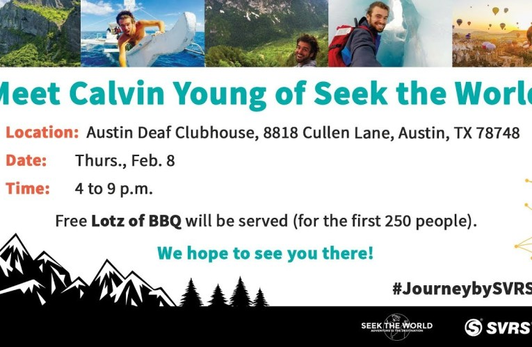 Kick-Off Event with Seek the World and Sprinter Van on February 8th (Sponsored by SVRS)