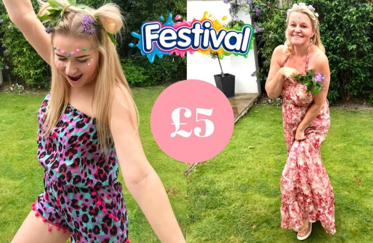 FESTIVAL READY FOR £5 CHALLENGE Ft. My Mum!