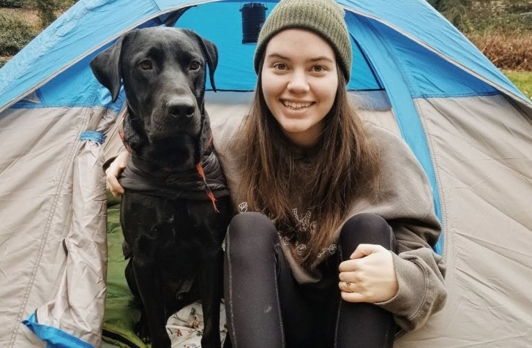 we camped in my yard