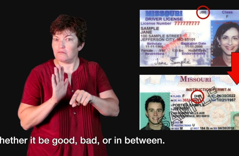 New Code for Deaf Drivers License in Missouri
