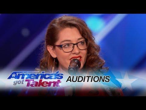 Mandy Harvey: Deaf Singer Earns Simon's Golden Buzzer With Original Song – America's Got Talent 2017