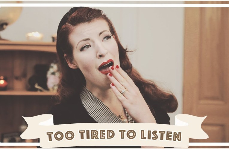 I'm too tired to listen to you [CC]