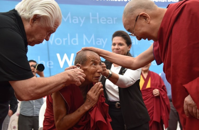 Dalai Lama visits the Foundation