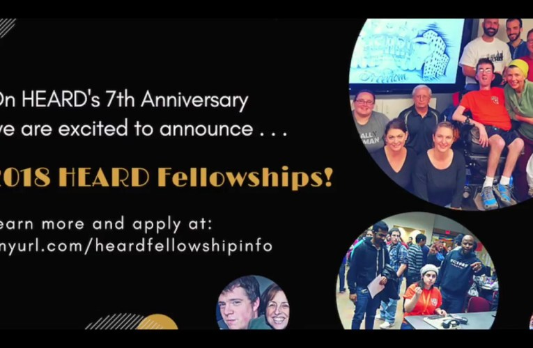 2018 HEARD FELLOWSHIP ANNOUNCEMENT!