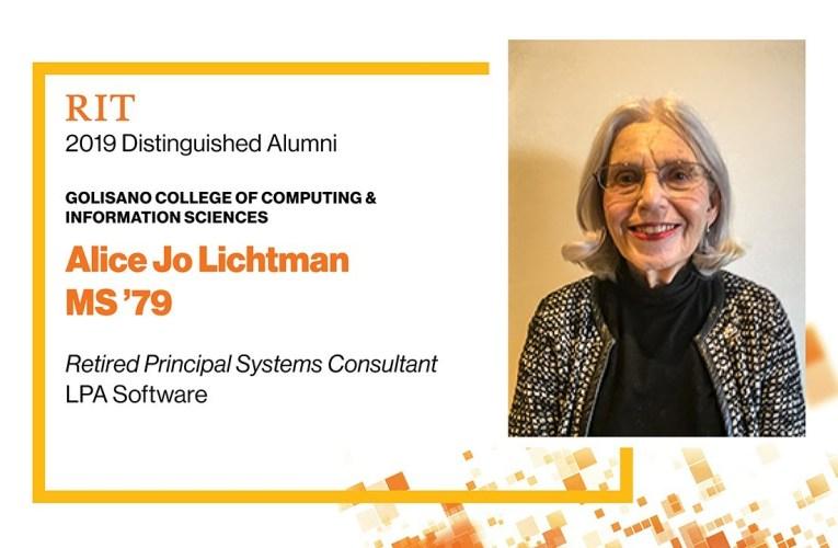 2019 GCCIS Distinguished Alumna: Alice Jo Lichtman MS '79