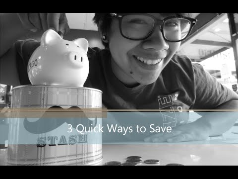 3 Quick Ways to Save