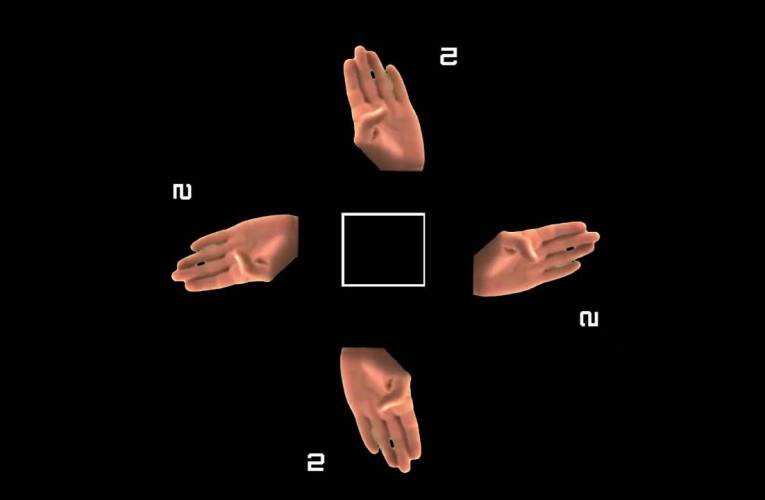 ASL  HOLOGRAM FINGERSPELLING #1TO6