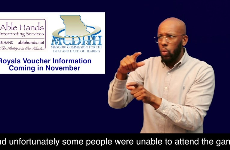 Royals Deaf and Hard of Hearing Awareness Day – Inclement Weather Follow Up