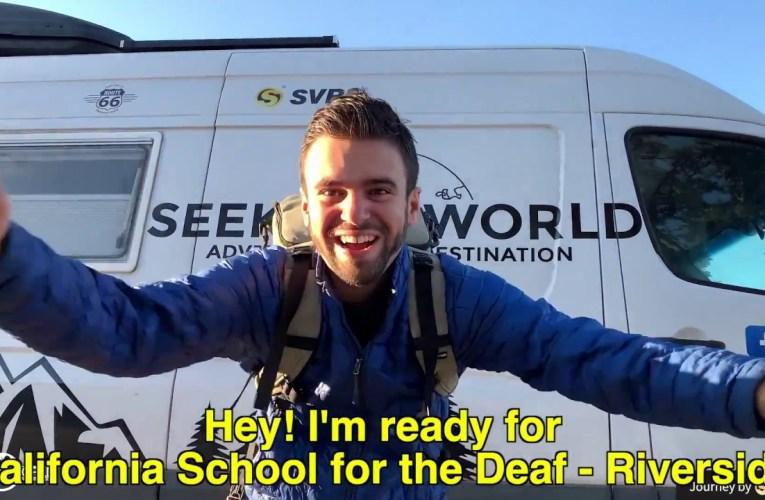 Seek the World Presentation at California School for the Deaf – Riverside