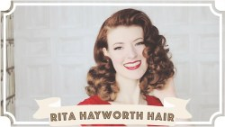 Rita Hayworth Hair Tutorial // How To Curl Your Hair [CC]